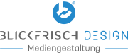 Logo von BLICKFRISCH DESIGN ein Partner für Print- und Webdesign
